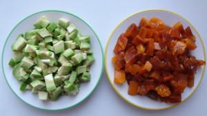 авокадо и хурма